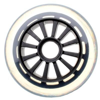 Low Profile Clear/Black Scooter Wheel