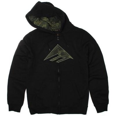 Triangle Fill Black/Camo Zip Hoody