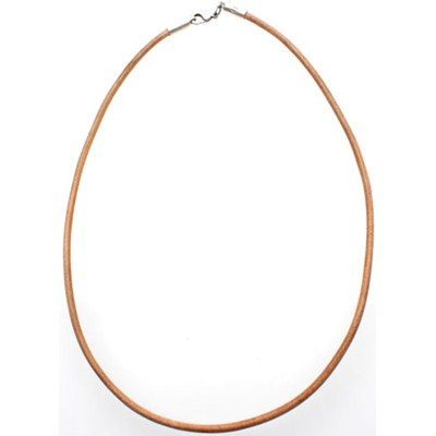 Brown Leather Choker - 18in