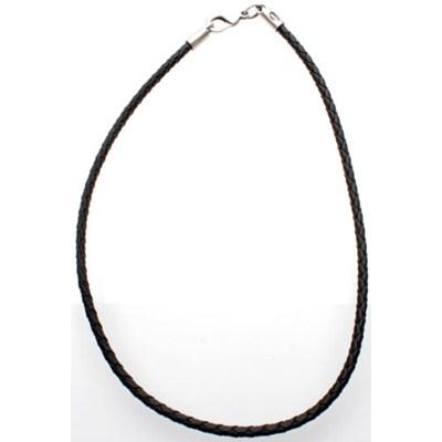 Black Braided PVC Choker - 20in