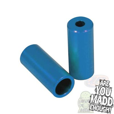 Blue Alloy Scooter Stunt Pegs