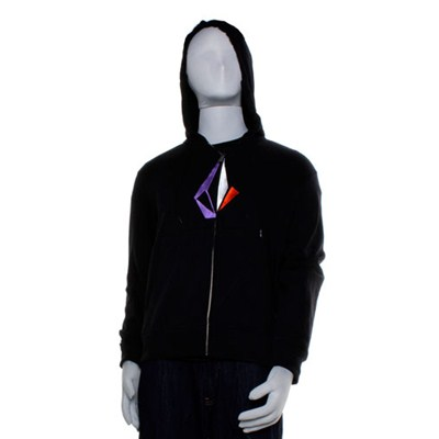 Distoned Slim Black Zip Hoody