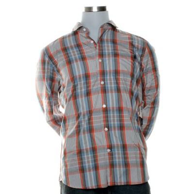 X Factor Plaid Orange L/S Shirt