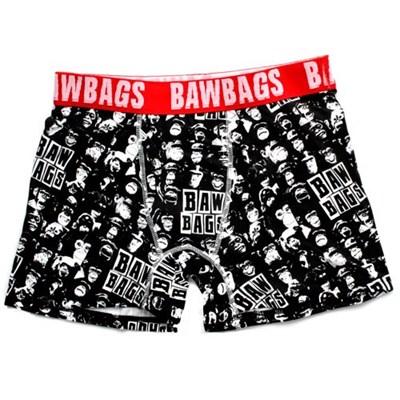 Bawbags Monkey Black Boxer Shorts