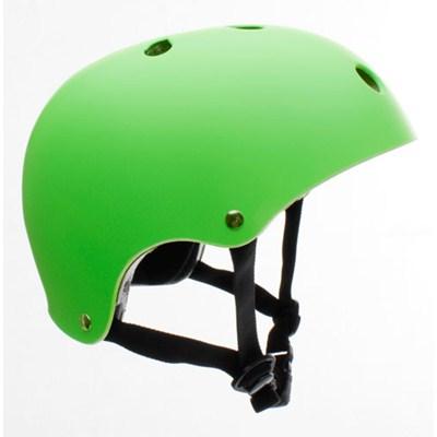Essentials Matt Fluo Green Helmet