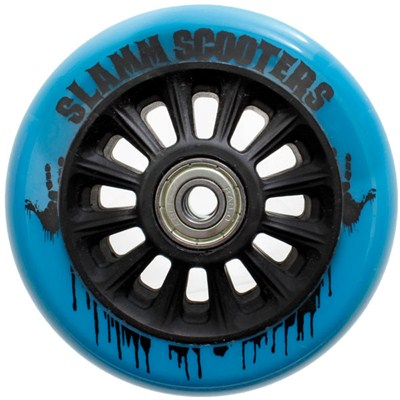 Nylon Core 100mm Scooter Wheel and Bearings - Blue