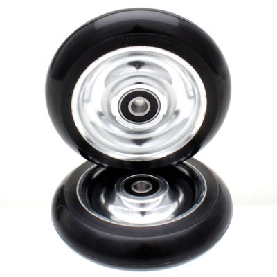 Black Aluminium Core Scooter Wheel and Bearings