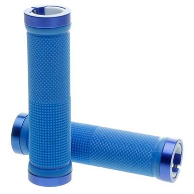 Kraton Scooter Handlebar Grips - Blue/Blue Alloy Rings