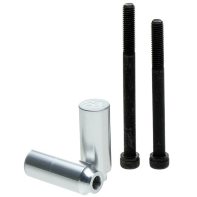 Scooter Grind Stunt Pegs - Silver