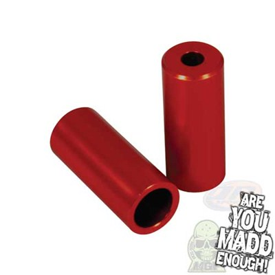 Red Alloy Scooter Stunt Pegs