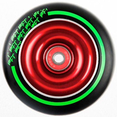 Black Max Red Aluminium Hub Scooter Wheel with Bearing