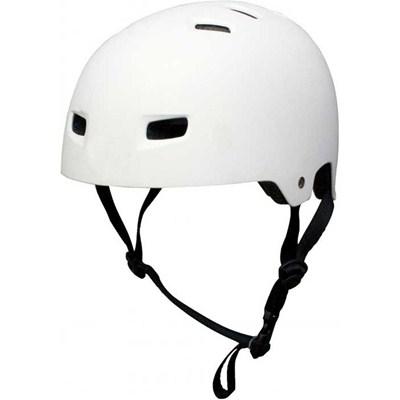 T35 Matt White Delux Skate/BMX Helmet