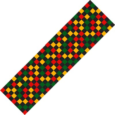 Checkered Rasta Skateboard Griptape