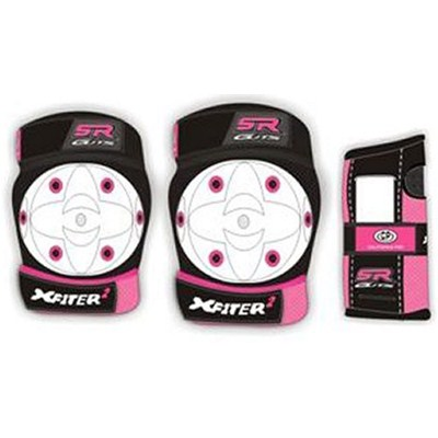 X-Fitter Kids 3 Pad Set - White/Pink