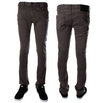 Skinny Fit Denim Overdyed Black Jeans