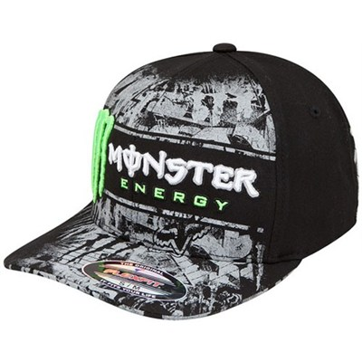 Monster RC Replica Tinsel Town Flexfit Hat - Black