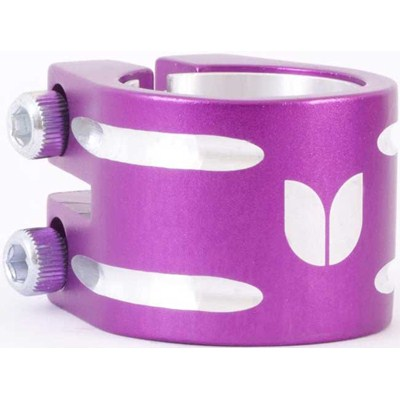 Duo Collar Scooter Clamp - Purple (inc Shim)