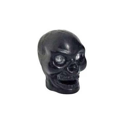 Skulls Black Valve Caps