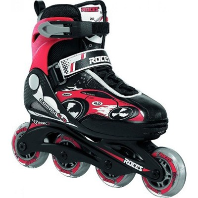 Compy 4.0 Boys Black/Red Childrens Recreational Inline Skate
