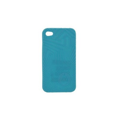 Spiral Op iPhone 4 Case - Bright Turquoise