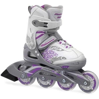 Bladerunner Phaser G Flash Girls Recreational Inline Skate White/Purple Floral