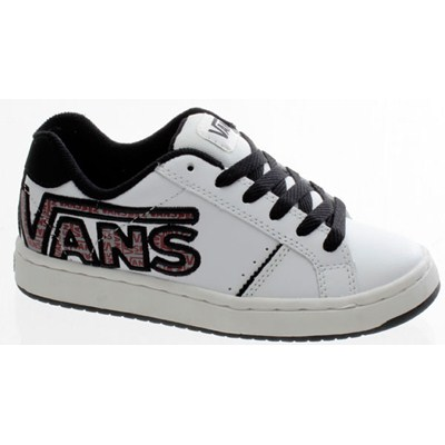 Widow (Double V) White/Black Kids Shoe DE237K