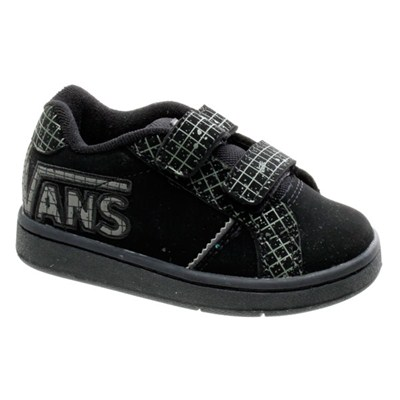 Widow V (Speckle Grid) Black/Charcoal Toddlers Shoe HBE0LN