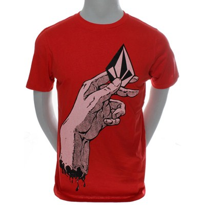 Hand It Over Basic S/S T-Shirt - Red