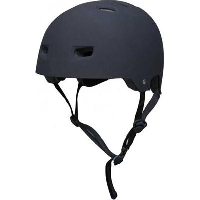 T35 Matt Black Delux Skate/BMX Helmet