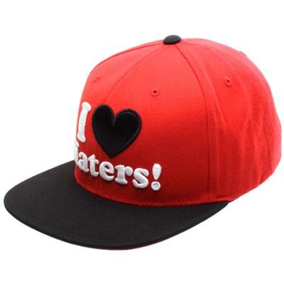I Love Haters Snapback Cap - Red/Black