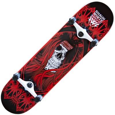 Shaun White Park Skull Red Complete Skateboard