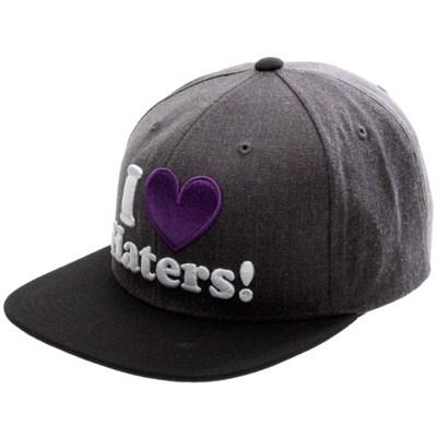 I Love Haters Snapback Cap - Charcoal/Black