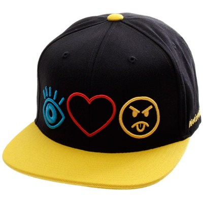 Haters Symbols Snapback Cap - Black/Yellow