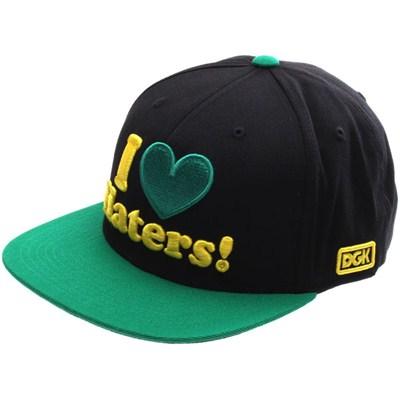 I Love Haters Snapback Cap - Black/Green