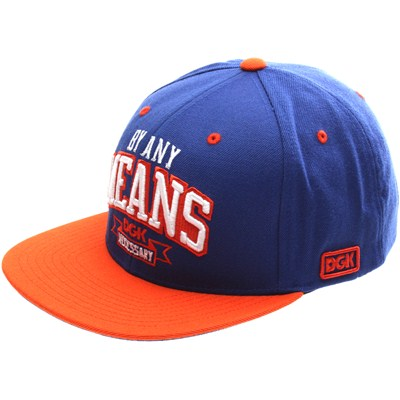 By Any Means Snapback Cap - Royal/Orange