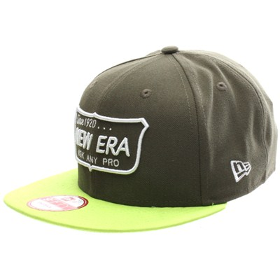 Ask Any Pro Snapback Cap - Olive/Cyber Green
