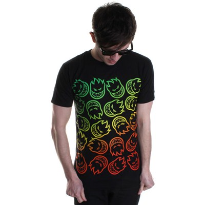 Headed Fade S/S T-Shirt - Black/Multi
