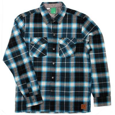 Not Bad Plaid L/S Shirt - Turquoise