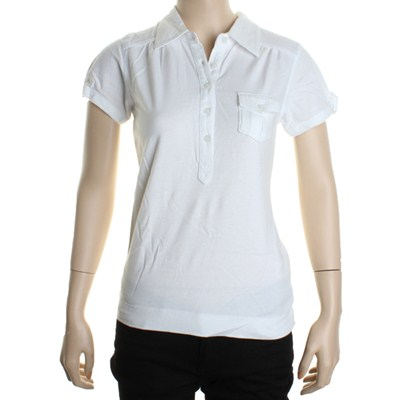 Siren S/S Girls Polo Shirt - White