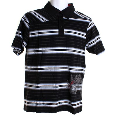 Try Stripe S/S Polo Shirt - Black