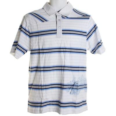 Try Stripe S/S Polo Shirt - White