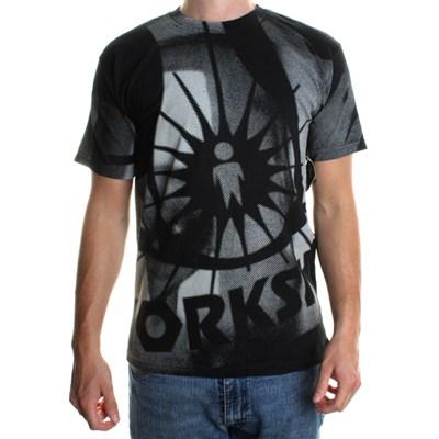 All Over Logo S/S T-Shirt - Black