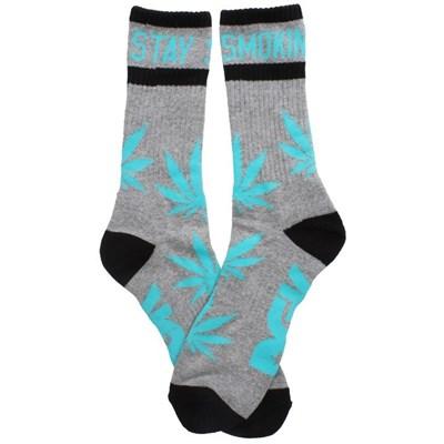 Stay Smokin Socks - Athletic Heather/Mint