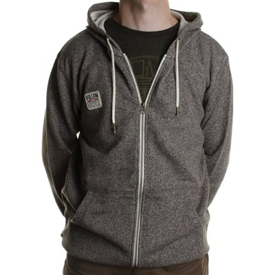 Loiter Zip Hoody - Heather Black