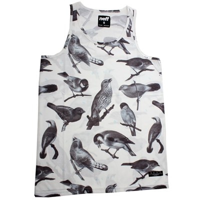 Songbirds Tank Top - White
