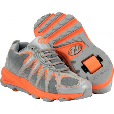 Sonar Orange/Grey/Silver Heely Shoe
