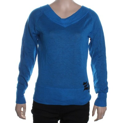 Show Me Some Skin V-Neck Sweater - Carribean Blue