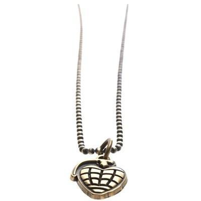 Grenade Necklace - Brass