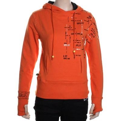 Top Level Girls Pullover Hoody - Orange