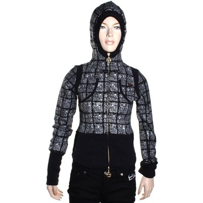 Jay Girls Zip Hoody - Black
